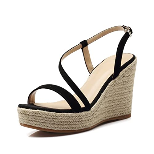 4442715805c Dream Elegant Wedge Shoes Hand-Woven Thick-bottomed High-Heeled Sandals  Sexy Open