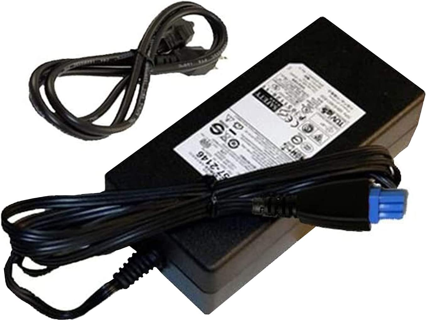 GENUINE HP AC Power Supply Adapter For Hp OfficeJet Pro L7550, L7580, L7590, L7600, L7650, L7680, L7700, L7750, L7780 Printers with Required AC Power Cord Bundle