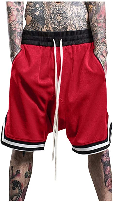 Dainzusyful Mens Casual Elastic Waist Boxer Sports Gym Workout Running Training Loose Fit Shorts Pants Jogger