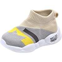 Infant Baby Knitting Sneakers Boots Running Shoes Mix Color Mesh Breathable Flat Trainers Unisex Girls Boys Soft Sole Sports Outdoor Slip On Anti-Slip Fashion Casual Shoes
