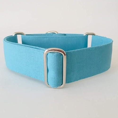 Collar Martingale para Perro Hecho a mano en España - Modelo Azul Celeste: Amazon.es: Handmade
