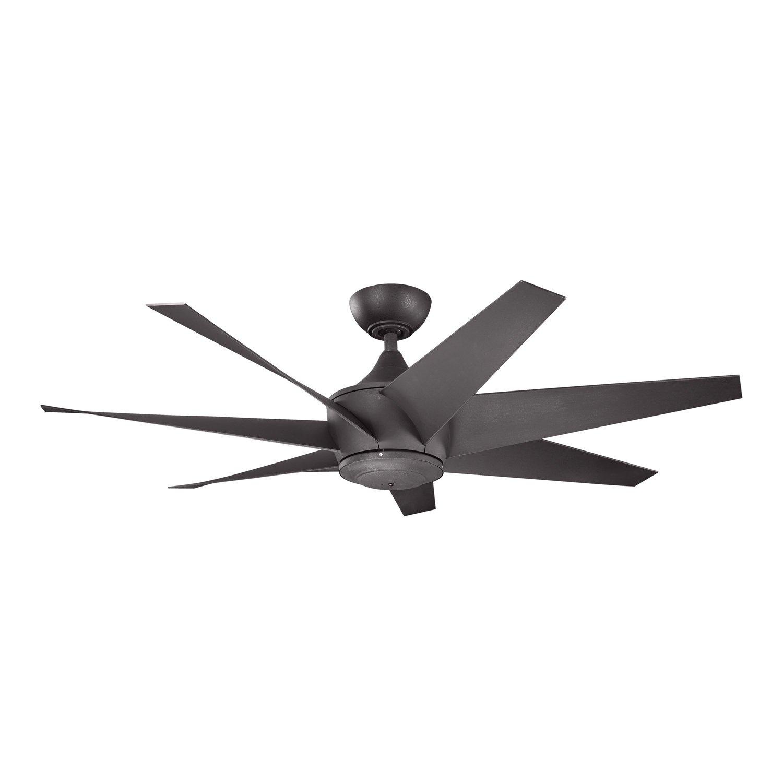 blades dc ceiling polymer black matt fan with blade radical