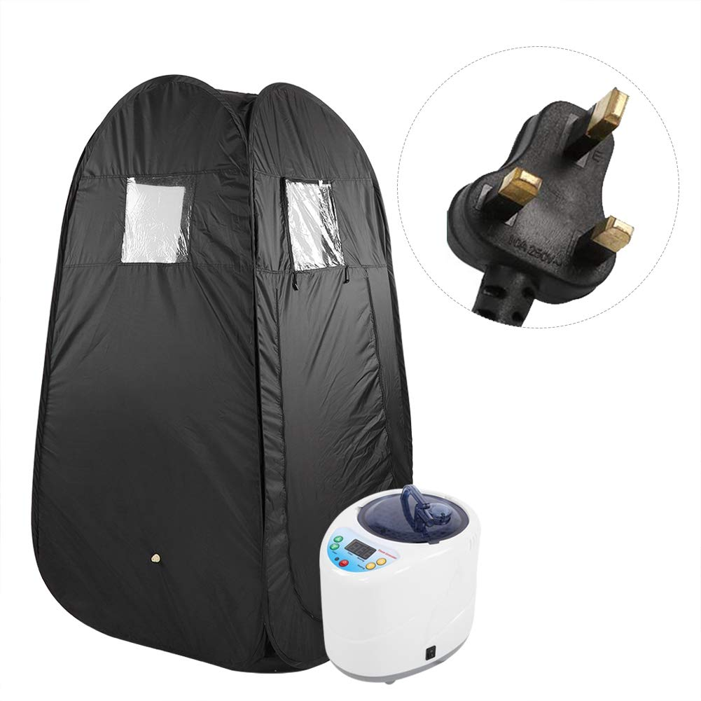 Garosa Portable Steam Sauna Rejuvenator Home Spa Women Slimming Loss Weight Detox Therapy Including Sauna Tent and Remote Control Steam Generator Machine UK Plug