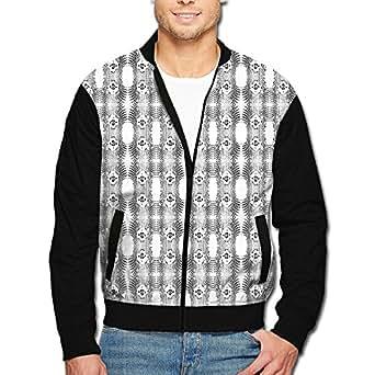 niasd Snake Seamless Pattern Men's Classic Zipper Jacket Coat