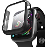 pzoz Compatible Apple Watch Series 6/5 /4 /SE 44mm Case with Screen Protector Accessories Slim Guard Thin Bumper Full…