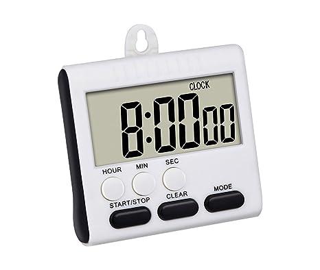 wellehomi temporizador de cocina digital sonido alarma LCD Digital Contar Hasta Abajo Huevo Reloj 24 horas