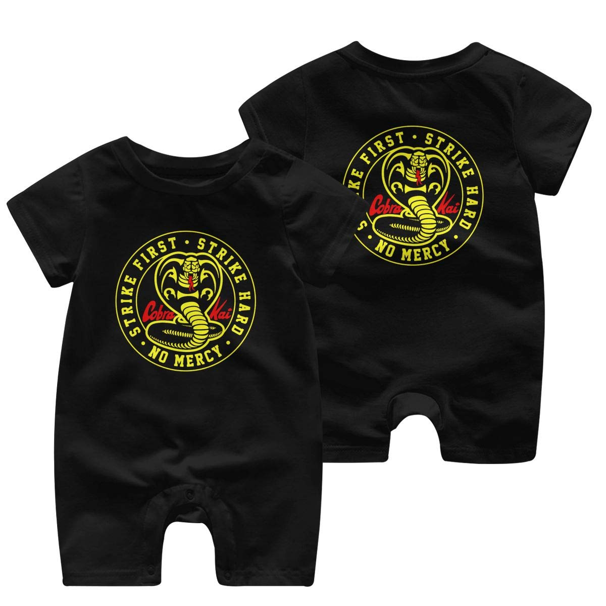 Cobra Kai Baby Jumpsuit Boys Girls 100/% Cotton Short Sleeve Rompers Double Print