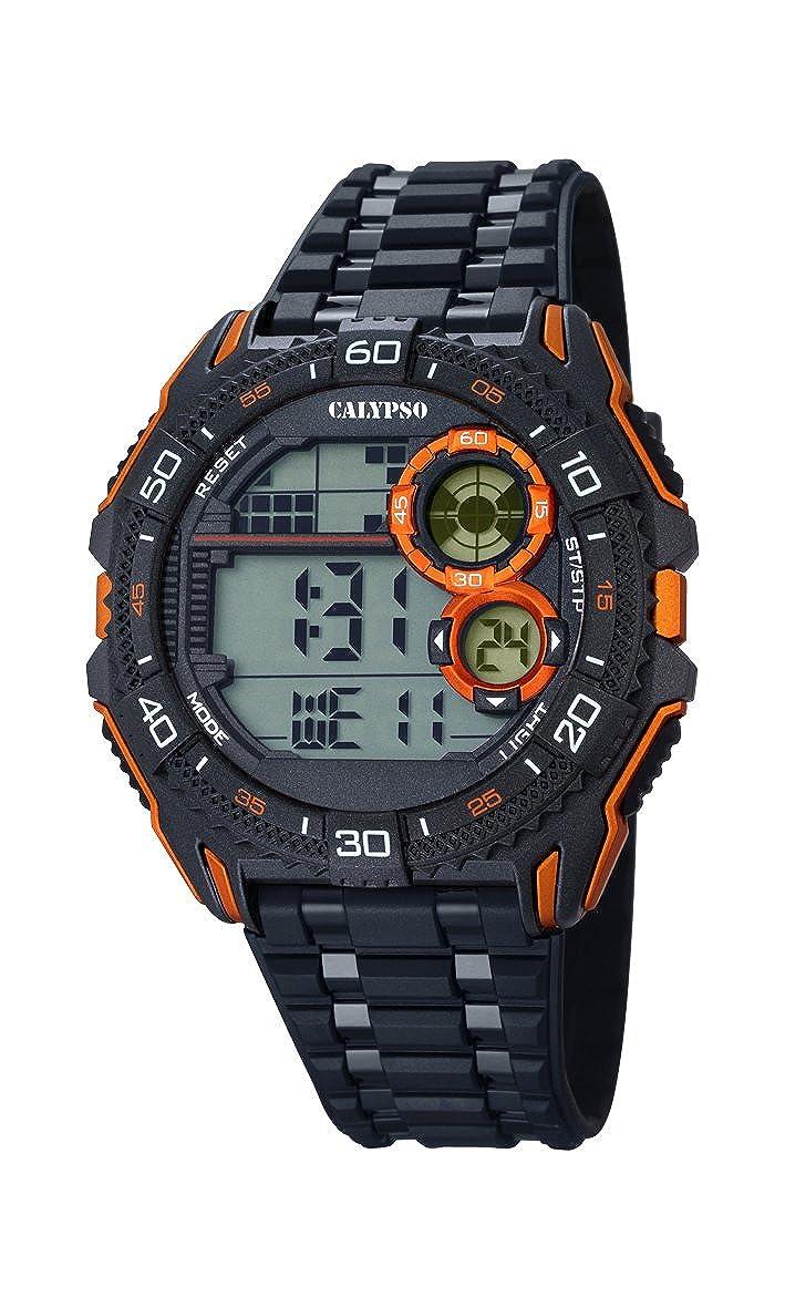 Calypso Hombre Reloj Digital con Pantalla LCD Pantalla Digital Dial y Correa de plástico en Color Negro K5670/6
