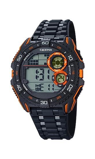 Calypso Hombre Reloj Digital con Pantalla LCD Pantalla Digital Dial y Correa de plástico en Color Negro K5670/6: CALYPSO: Amazon.es: Relojes