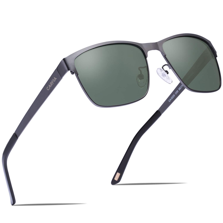 Carfia para hombre polarizadas Gafas de sol caliente gafas de moda para al aire libre conducción pesca Golf–Estructura de metal