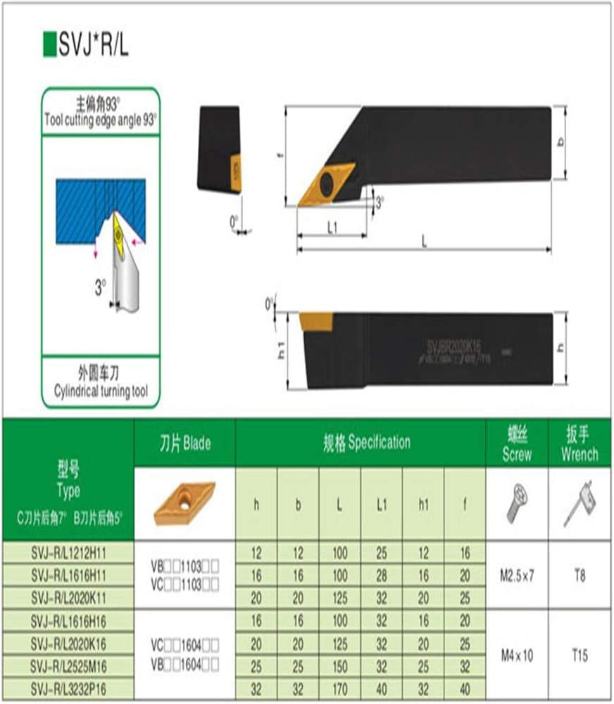 Gaobey 93/°SVJBL 1212H11 Index External Lathe Turning Holder For VBMT inserts