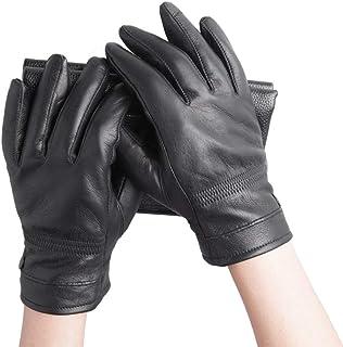 IJLKJE Gloves Gants en Cuir/Gants en Cuir pour Hommes/Gants d'hiver
