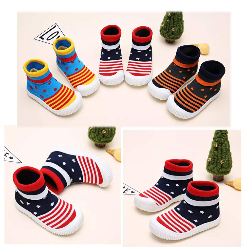 wyhweilong Unisex Baby First Walker Shoes Soft Sock Shoes 1-7 Years