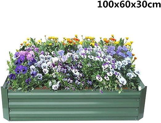 JHO Tec® - Cama de Metal para Verduras, jardín Verde, Acero Blanco ...