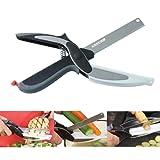 2 en 1 alimentaire Chopper Cutter , Légume fruit Chopper Ciseaux couteau et une planche à découpe,intelligent Cuisine Cutter