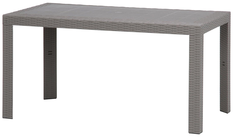 不二貿易 ガーデン プラスチック モダン テーブル ステラ 80x140cm 野外 屋外 使用 可能 グレー B00U1ZC03Y グレー