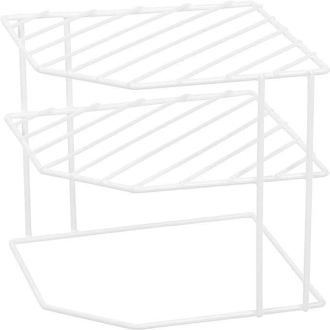 Ybmhome 3 Tier Corner Helper Shelf White  Rack for Kitchen Counter Pantry 2215