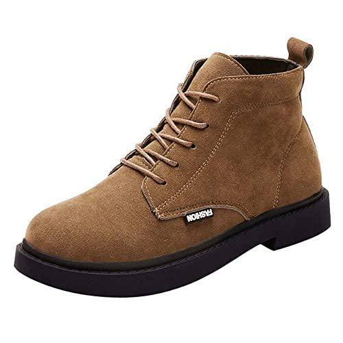 Damen Winter Stiefeletten Einfarbig Schuhe Kampf Reiten 1TlKJc3F