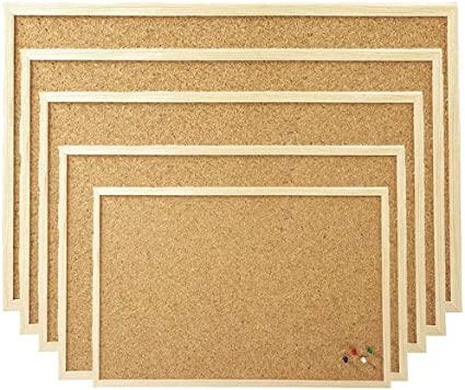 Pinnwand 20 x 25 cm Kork mit Holzrand
