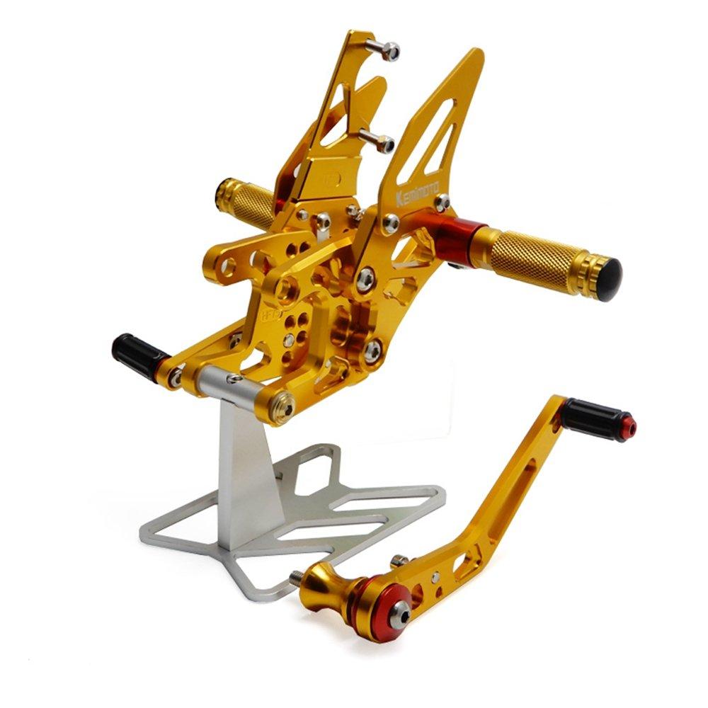 Titanium CBR1000RR Rearset CNC Adjustable Foot Pegs Rear Sets for Honda CBR 1000RR 2008-2014 Issyzone