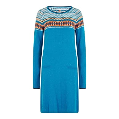 Weird Fish Sebah Fair Isle Knitted Dress Blue Jay Size 10: Amazon ...
