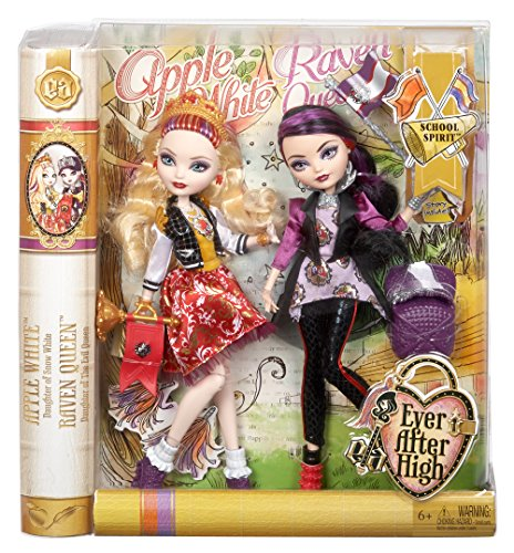 Ever After High School Spirit Apple White and Raven Queen Doll (2-Pack)(Discontinued by manufacturer)