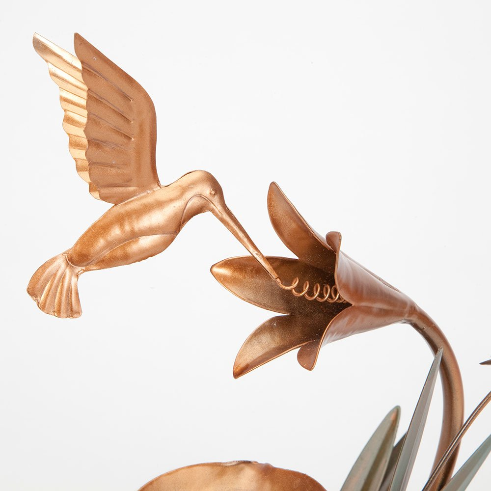 Bits and Pieces - Indoor Hummingbird Lily Fountain - Zen Tabletop Water Fountain by Bits and Pieces (Image #5)