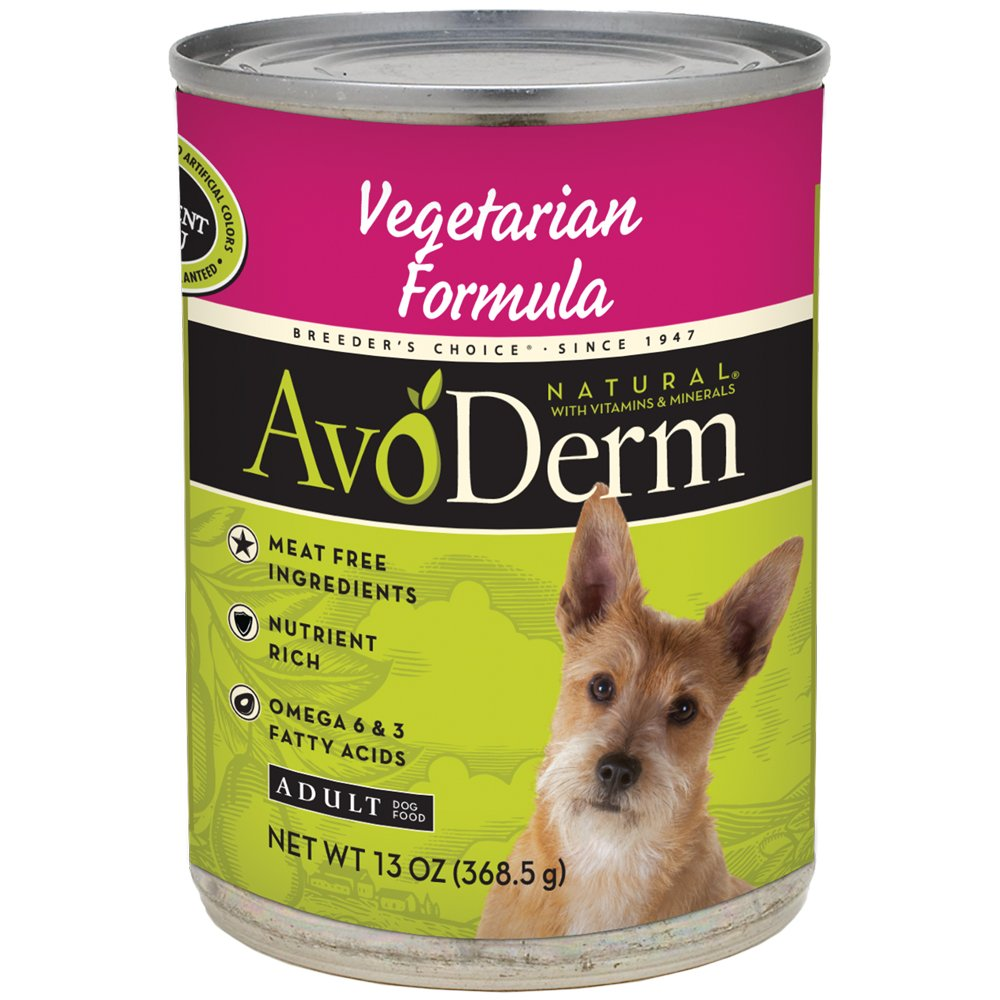 AvoDerm Natural Vegetarian Formula Wet Dog Food, All Life Stages, Case of 12 Cans