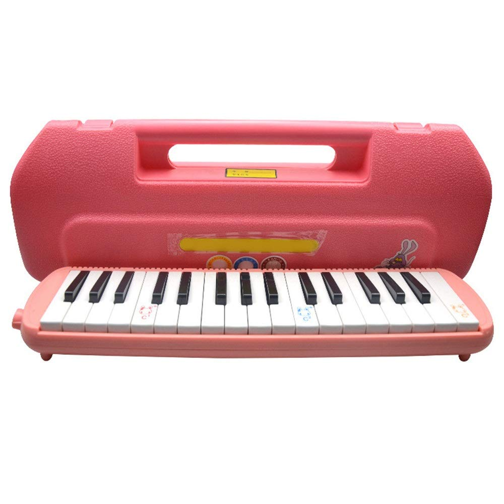 Melodica Musical Instrument Kids Musical Melodica Toys 32 Keys With Portable Carrying Case Mouthpieces Tube Sets Instrument Gift For Music Lovers Beginners Air Piano Keyboard for Music Lovers Beginner