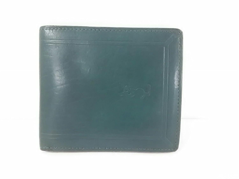 (イヴサンローラン) Yves Saint Laurent 2つ折り財布 グリーン 【中古】 B07DQN7Z21