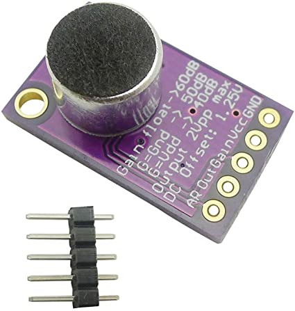 Amplificatore per microfono Electret Stabile Modulo MAX9814 Controllo guadagno automatico per