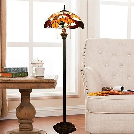 FYJP Floor Lamp Lámpara de pie de Cristal Tiffany Planta salón Comedor Dormitorio Barra de la lámpara de la lámpara de Cristal del Club de UVA: Amazon.es: Hogar