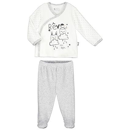 Pijama bebé 2 piezas Terciopelo Suave sueños – Talla – nacimiento (50 ...