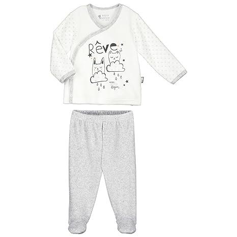 3ef223b9c9bf6 Pyjama bébé 2 pièces velours Doux Rêves - Taille - 1 mois (56 cm ...