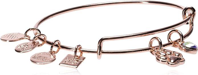 Alex and Ani Aphrodite/'s Flower russian silver charm bracelet neuf avec étiquette carte /& boîte