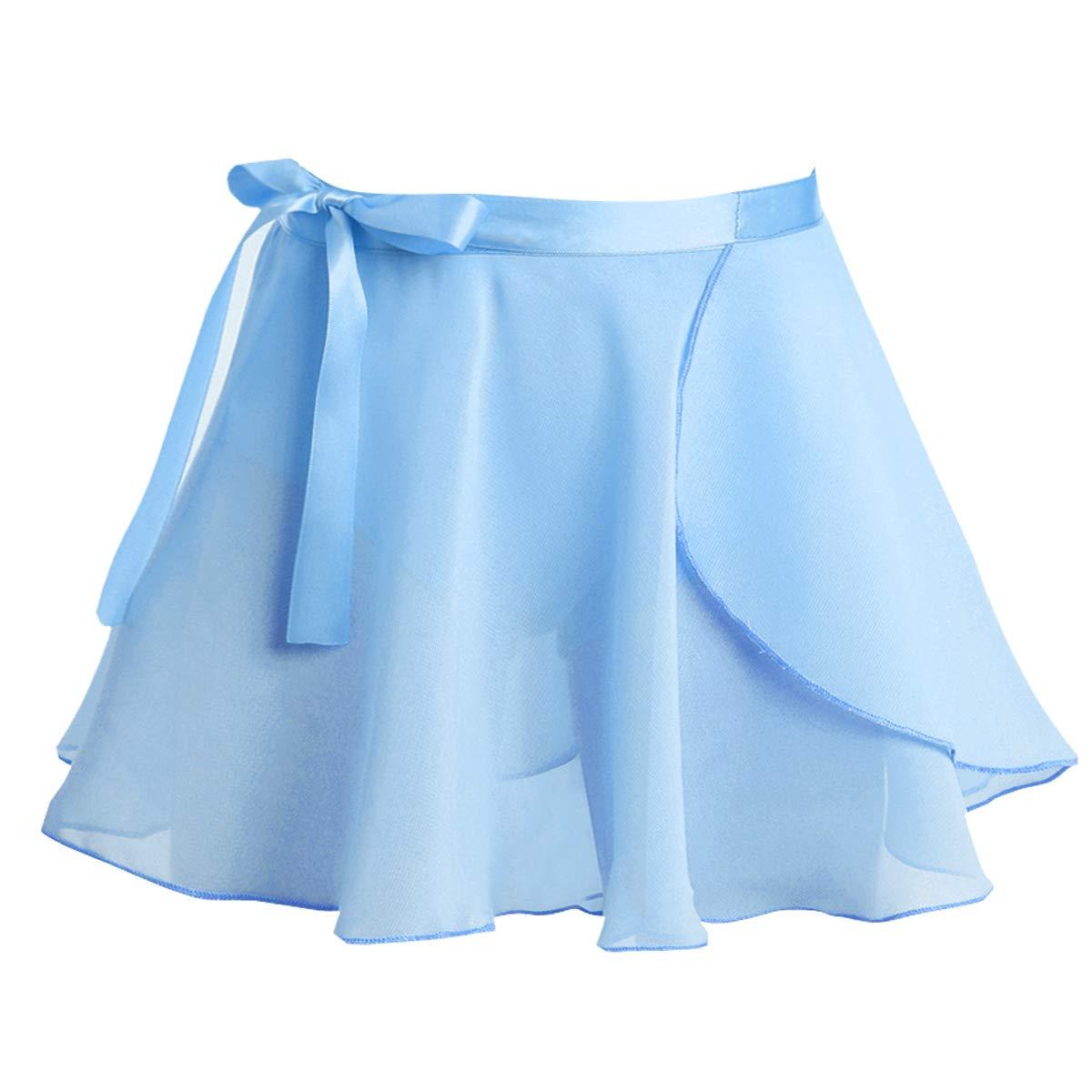 MSemis Falda de Ballet para Niñas Falda Cruzada de Danza Cintura ...