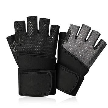Yiph-Gloves Guantes Guantes Unisex sin Dedos de Medio Dedo ...
