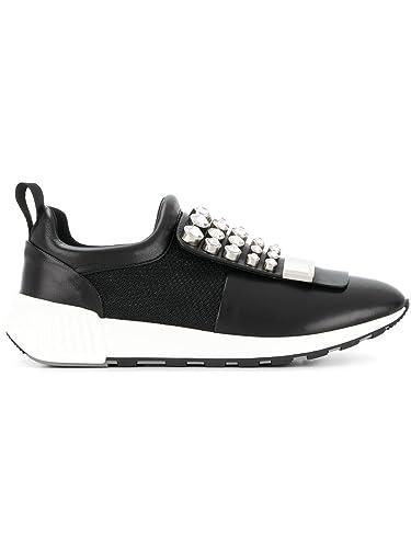 Sergio Rossi Damen A80840mfn3461498 Schwarz Leder Slip on Sneakers YODgLNVL