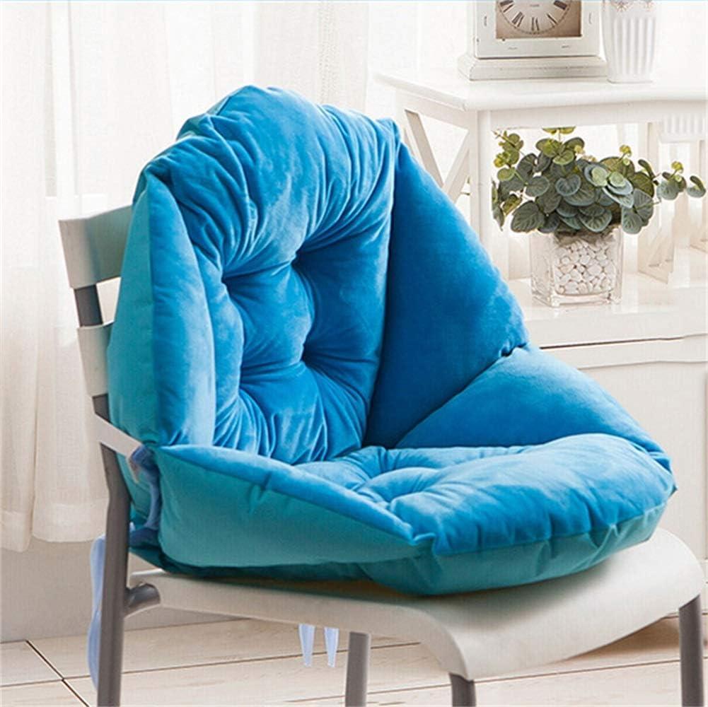 HKX Cojín Grueso para Silla de Oficina con cojín de Asiento con Lazo Acogedor, fácil de Limpiar Estudiante Tapizado Suavemente (sin sillas) Silla de Oficina Sillas de Comedor - Azul Verde