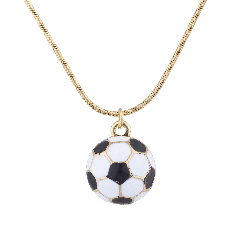 LUX accesorios dorado tono Balón de fútbol Fútbol Mamá deportes ...
