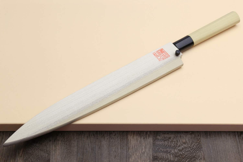 Yoshihiro Left Handed Shiroko High Carbon Steel Kasumi Yanagi Sashimi Japanese Chef Knife 10.5 Inch (270mm) by Yoshihiro (Image #7)