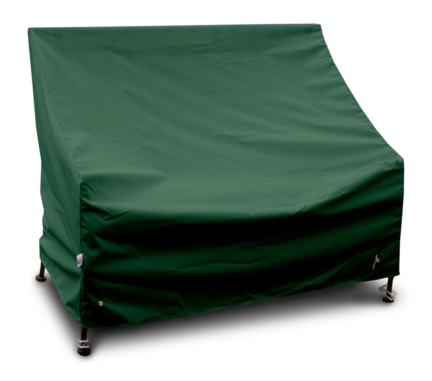 KoverRoos Weathermax 64202 4-Feet Bench/Glider Cover, 51-Inch Width by 26-Inch Diameter by 35-Inch Height, Forest Green