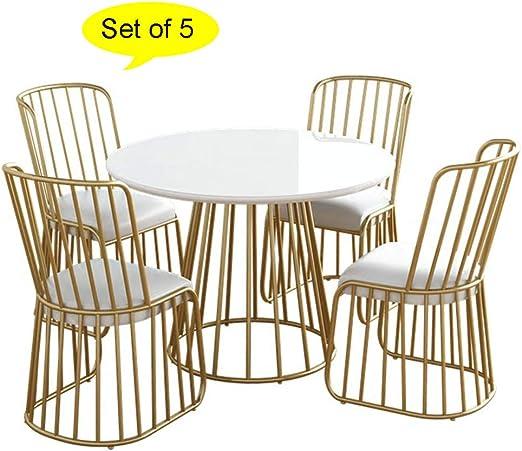Juego de 5, Juegos de mesas y sillas comedor de mármol Mesa de ...