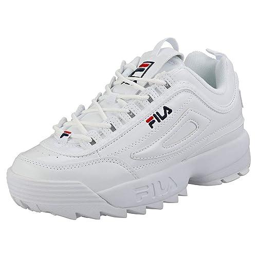 Fila Disruptor 2 Premium Patent Mujeres Zapatillas: Amazon.es: Zapatos y complementos