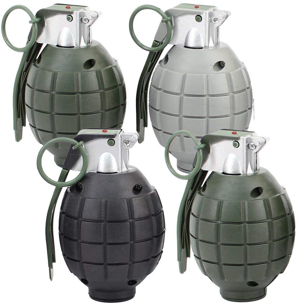 Lot of 4 Kids Toy B/o Grenades for Pretend Play by Army
