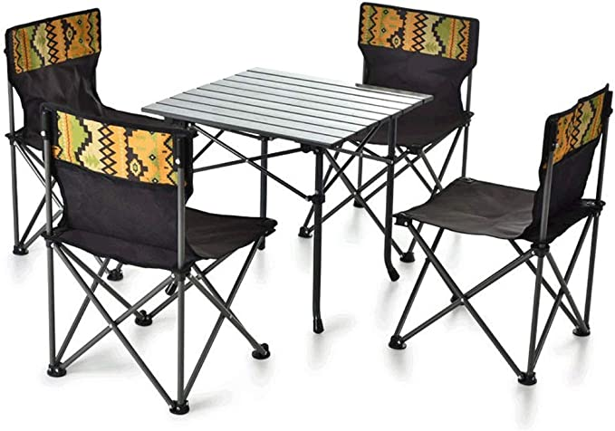Juego de Mesa y sillas de Picnic Plegables, Silla y Mesa de Pesca portátil Camping Garden BBQ, 62cmX28cmX21cm: Amazon.es: Hogar