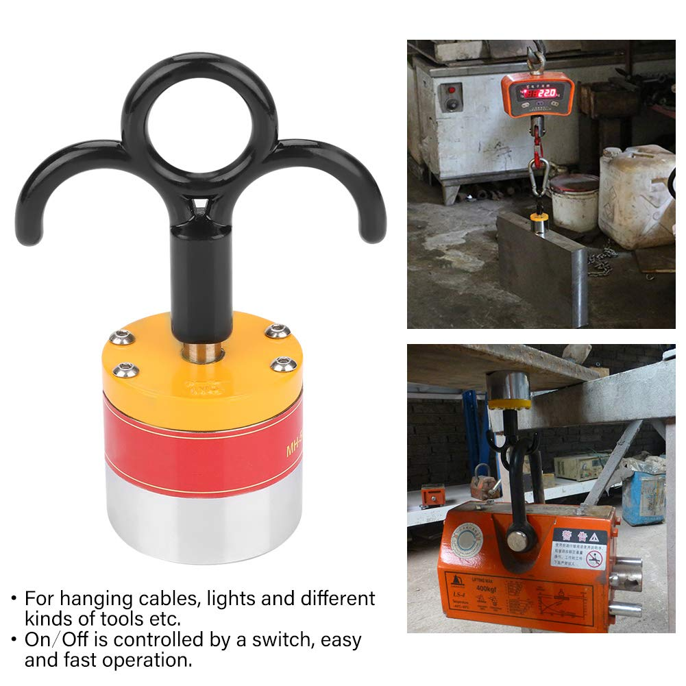 On/Off Industrial Strong Magnetic Hanging Hooks, MH-50 Functional Portable High Neodymium Magnet for Hanging Cables, Lights and Different Kinds of Tools by Wal front (Image #8)