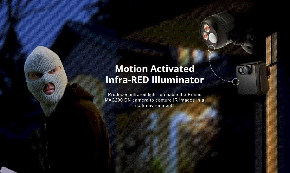 Brinno activados por movimiento iluminador infrarrojo lámpara de infrarrojos para permitir que la cámara capture imágenes infrarrojas en el ambiente oscuro, ...