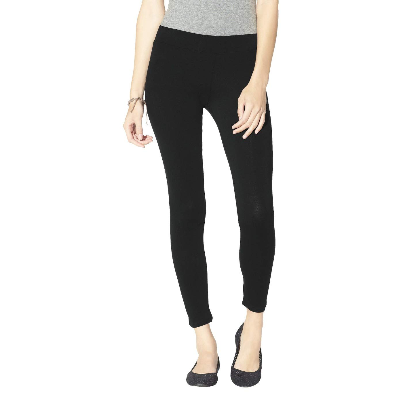 0bc259aac9cf3 Mossimo Women's Charcoal Grey Textured Ribbed Leggings (M) at Amazon  Women's Clothing store:
