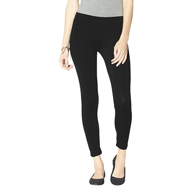 f5f9eb0cba4a0 Mossimo Women's Charcoal Grey Textured Ribbed Leggings (M) at Amazon ...